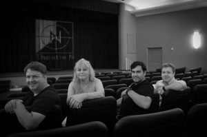 Theatre N will re-open next month with a new team in charge (left to right): technical director Bob Weir, film programmer Beverly Zimmermann, The Mill's Robert Herrera and The Kitchen's Zach Phillips. (Photo: Courtesy of Theatre N)