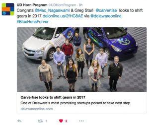 Screenshot UD Horn Program Twitter