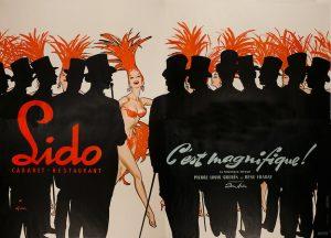 Lido Cabaret Vintage Poster Illustration