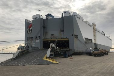 RoRo boat to transport cars