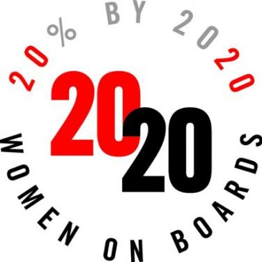 20 percent by 2020 - 2020 Women On Boards
