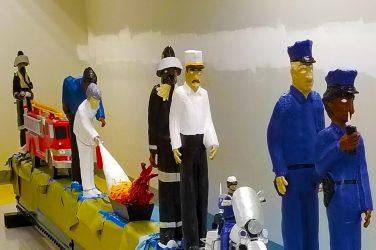 Dial 911 Sculpture