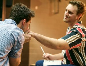 Marvin and Whizzer in Falsettos at the Wilmington Drama League