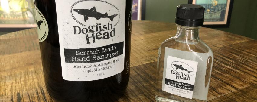 Dogfish Head Brewery Scratch-Made Hand Sanitizer