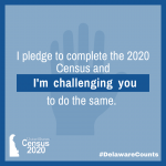 I pleade to complete the 2020 census and I'm challenging you to do the same!