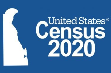 United Stats Census 2020 Delaware State outline