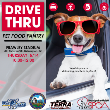 Drive Thru Pet Food Pantry Happening in Wilmington, DE on May 14