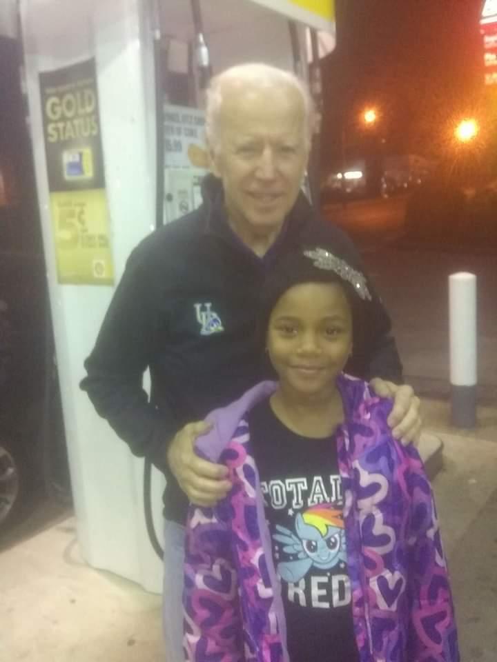 Joe Biden at Wilmington gas station