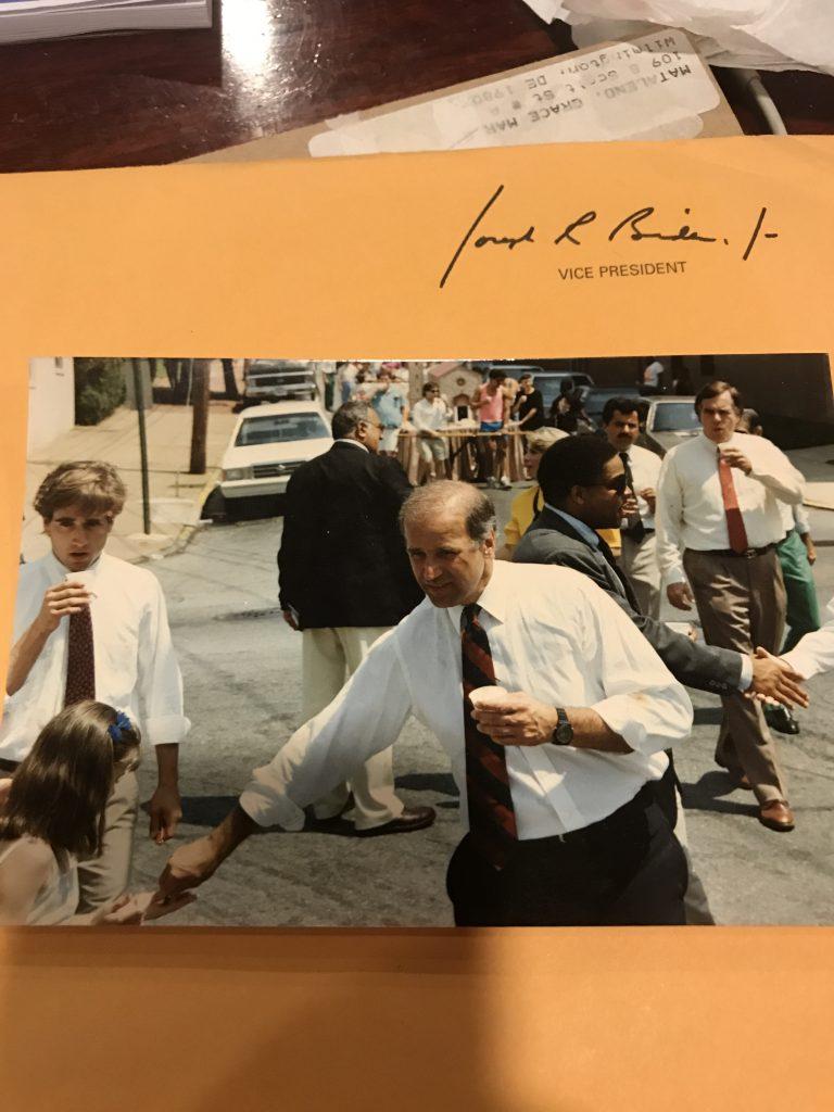 Joe Biden in streets of Wilmington Delaware