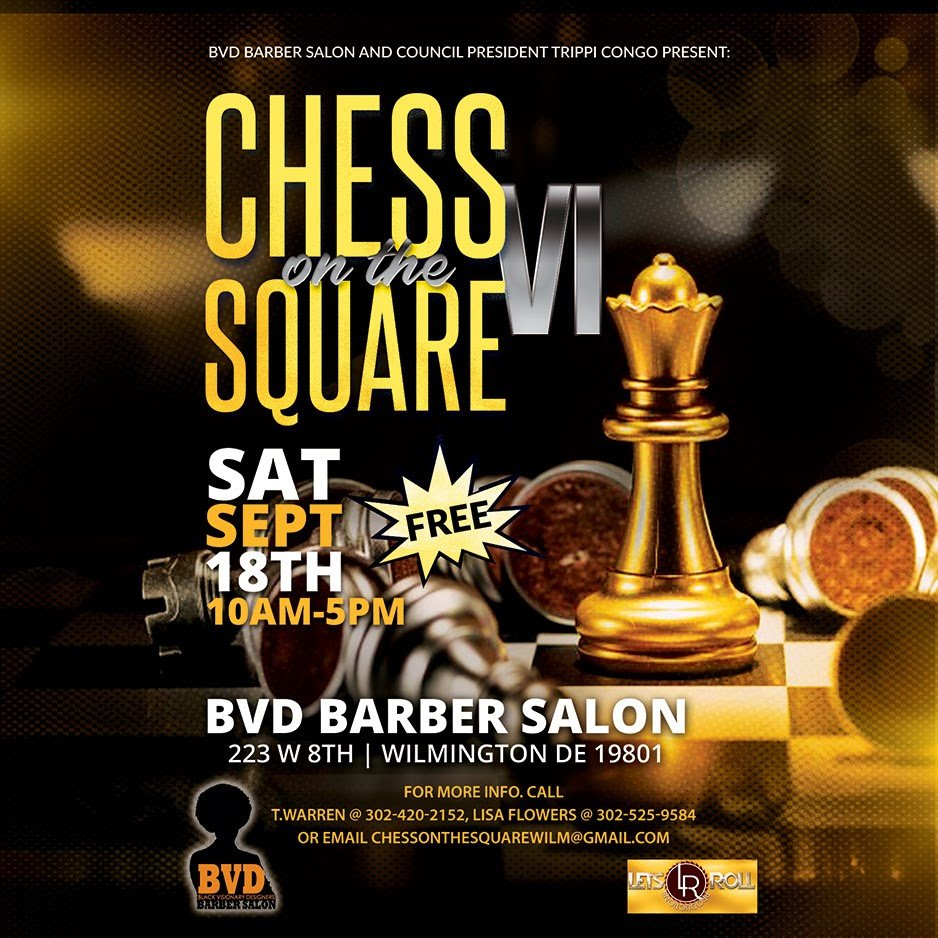 Chess on The Square Poster